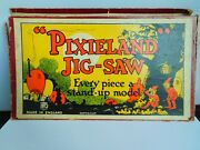 Very Rare Vintage Gibson Wooden Pixieland Jigsaw Puzzle