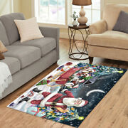 Personalized Christmas Santa Sled Jack Russell Dogs Living Room Area Rugs Mats