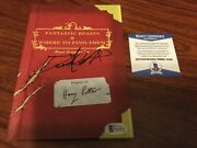 Fantastic Beasts Where Find Them Daniel Radcliffe Signed Book Beckett Bas