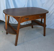 Antique Arts And Crafts Mission Oak Library Table Or Desk