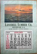 Manchester, Nh 1922 Advertising Calendar/giant 27x40 Poster-lumber-new Hampshire