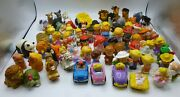 Fisher Price Little People Lot Of 74 Animals, Cars, Klip Klop And People Used