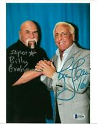 Wwe Ric Flair And Billy Graham Hand Signed 8x10 Photo With Beckett Loa Rare 2
