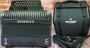 Hohner Corona C-ii Redesigned Green/gold Fbbeb Fbe Button Accordion German Made