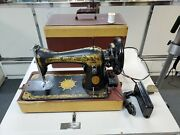 Old Vintage Singer Sewing Machine Sphinx Classic S Ng050508 In Case
