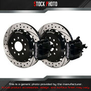 Wilwood Combination Parking Drilled And Slotted Rotor Rear Brake For 10-14 Mustang