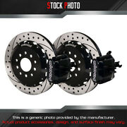Wilwood Combination Parking Drilled And Slotted Rotor Rear Brake For 98-04 Mustang