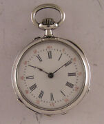 Vintage Serviced Lombard A Gap 1900 French Solid Silver Pendant Watch Perfect