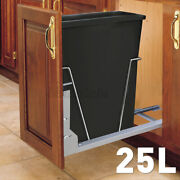 6.6gal Under Counter Sliding Pull Out Kitchen Cabinet Waste Bin Trash Container