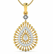 Diamond Pendant For Her, 18 K Solid Gold, 0.25 Carat Perfect Gift For Birthday