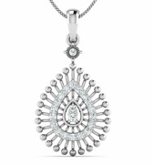 Diamond Pendant For Her 18 K Solid Gold 0.25 Carat Perfect Gift For Birthday