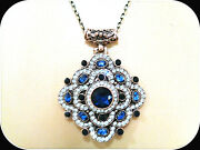 Antique Gold Over Stunning Handcrafted Blue Sapphir Necklace Turkish Jewelry