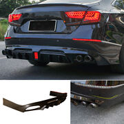 For Honda Accord 2018-2020 Rear Bumper Diffuser Bodykit With Lights Unfinished