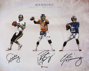 Archie Peyton And Eli Manning Signed 16 X 20 Manning Family Generations Photo
