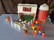 Vintage Fisher Price Little People Farm House / Animals Free Shipping