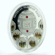 2012 Niue Large Proof Silver 2 Russian Imperial Faberge Egg Napoleon 1812 War
