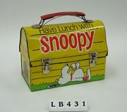 Have Lunch With Snoopy Dome Children's Vintage Metal Lunch Box 1968 King-seeley