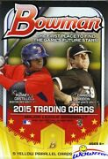 2015 Bowman Baseball Huge Exclusive Factory Sealed Hanger Box-5 Yellow Parallels
