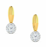 Diamond Earring,14 K Solid Yellow Gold 0.13 Ct Natural Perfect Gift For Birthday