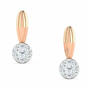 Diamond Earring14 K Solid Rose Gold 0.13 Ct Natural Perfect Gift For Birthday