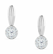 Diamond Earring,14 K Solid White Gold 0.13 Ct Natural Perfect Gift For Birthday