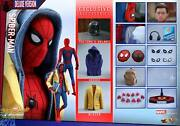Dhl 1/6 Hot Toys Mms426 Marvel Spider-man Homecoming Peter Parker Deluxe Ver