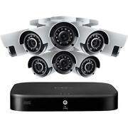 Lorex 4k Ultra Hd 8-channel 1tb Dvr Security System With 8x 8mp Bullet Cameras