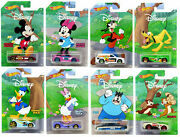 Lot 8 Voitures Hot Wheels Mickey And Friends Disney Ensemble Complet.