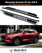 2pcs Running Boards Side Step Nerf Bars Fits For Mazda Cx-5 Cx5 2017-2021
