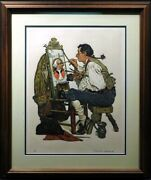 Norman Rockwell Ye Pipeandbowl Tavern Lithograph Hand Signed Make An Offer