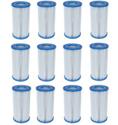 12 Pack Bestway Type Iii A/c Filter Cartridge For 1000 And 1500 Gph Filter Pumps