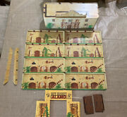 Marx Alamo Reissue Tin Litho Set With Accessories And Pegs