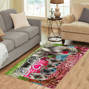 Personalized I Love Cart Keeshond Dogs Area Rugs Mats