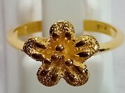 10k Solid Yellow Gold Beautiful Handmade Jewelry Antique Design Twist Rings
