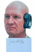 Star Wars John Hollis As Lobot Autograph Signed Index Card And Official Pix Photo