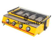 Commercial New 4 Head Gas-fired Grill Smokeless Barbecue Machine Et-k222