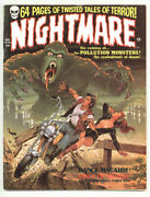 Nightmare Magazine 1 6.0 Skywald Heck And Shores Art Ow Pgs 12/1970 C
