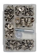Canvas And Upholstery Boat Cover Snap Button Fastener Kit W/installation Tool -