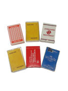 Playing Cards Set Of 6 Western Airlines Qantas Northwest Airlines United Airl