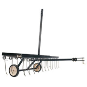 Lawn Dethatcher 48 In. Tow-behind Weight Tray Heat-treated Spring Mowers Tractor