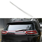 Chrome Steel Rear Tailgate Trunk Lid Frame Trim Fit For Jeep Cherokee 2014-2018