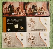 2007 2007 2012 2014 2015 2015 U.s Mint Presidential Dollar Coin Proof Sets 70