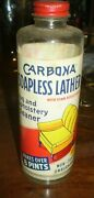 Antique Advertising Carbona Soapless Lather Bottle Nice Graphic