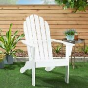 Wooden Outdoor Adirondack Chair, Solid Hardwood Perfect For Patio, Backyard