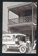 Real Photo Nelson New Zealand Catering Bakery Delivery Truck Postcard Copy