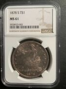 1878-s Ms61 Ngc Great Type Coin - Us Trade Dollar - Great Type Coin