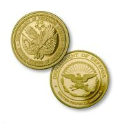 Department Of Defense Veterans Affairs Gold Challenge Coin
