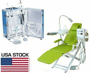 Dental Unit With Air Compressor + Scaler + Curing Light + Dental Chair 4 Hole Us