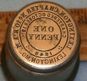 Antique Lexington Mo Chapter No 10 Ram Masonic Penny Stamping Die Mc Lilley