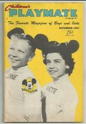 1957 Nov Childrenand039s Playmate Magazineannette Funicellomickey Mouse Clubpopeye